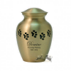 Copper Paw Print Jar Urn