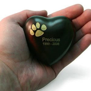 Heart Keepsake Copper Single Paw