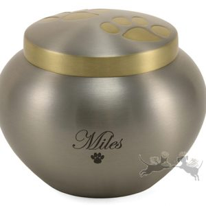 Pewter Pet Jar Urn
