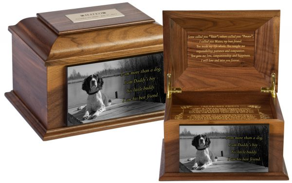 Pet Urns engraved with your favorite photo